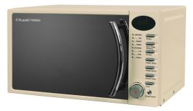 Heritage 17 Litre Cream Digital Microwave With Chrome Handle & Buttons