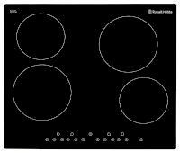 Black Glass 59cm Wide, 4 Zone Electric Hob With Touch Control