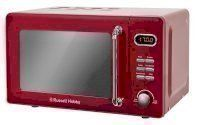 Retro 17 Litre Ribbon Red Digital Microwave