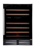 Black Glass Built In & Freestanding 46 Bottle Dual Zone Wine Cooler