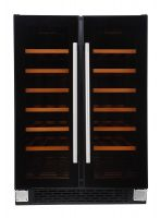 Black Glass Built In & Freestanding 36 Bottle Dual Zone Wine Cooler