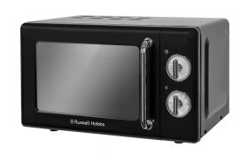 Retro 17 Litre Classic Noir Manual Microwave