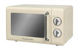Retro 17 Litre Vintage Cream Manual Microwave