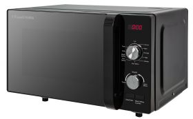 19 Litre Black Flatbed Digital Microwave