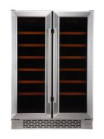 Stainless Steel Built In & Freestanding 36 Bottle Dual Zone Wine Cooler