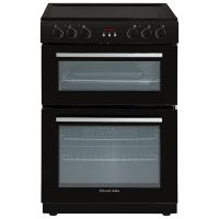 Black 105L Fan Assisted Electric Cooker & Double Oven with Ceramic Hob