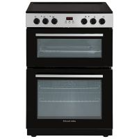 Stainless Steel 105L Fan Assisted Electric Cooker & Double Oven with Ceramic Hob