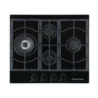 Midnight Collection 59cm Black Glass 4-Burner Gas Hob