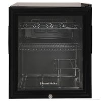 12 Bottle Lockable Wine Cooler Black