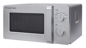 Compact 14 Litre Silver Manual Microwave