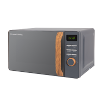 17 Litre Scandi Grey Digital Microwave with Wood Effect