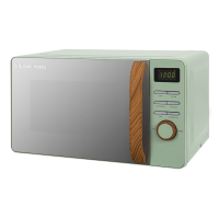 17 Litre Scandi Green Digital Microwave with Wood Effect