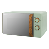 17 Litre Scandi Green Manual Microwave with Wood Effect
