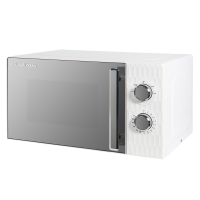 17 Litre White Honeycomb Manual Microwave